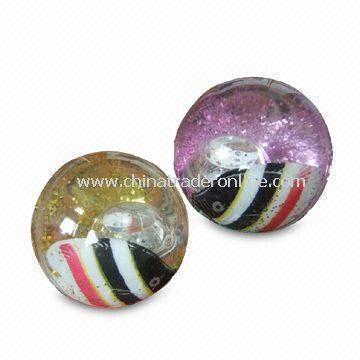 High-bounce Glitter Water Ball, Customized Designs are Welcome