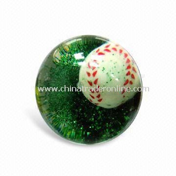 High-bounce Glitter Water Ball, Made of 45/55/65/85/103mm, Complies to European Standard
