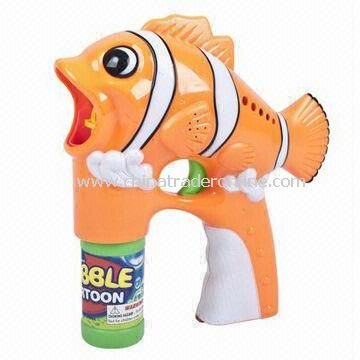 Hot-selling Clown Fish Flash Toy Bubble Gun with 2 Bottles and Music EN71 GW355267