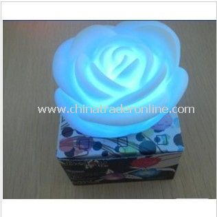 LED Candle Light Rose Flower Changing Color Floating