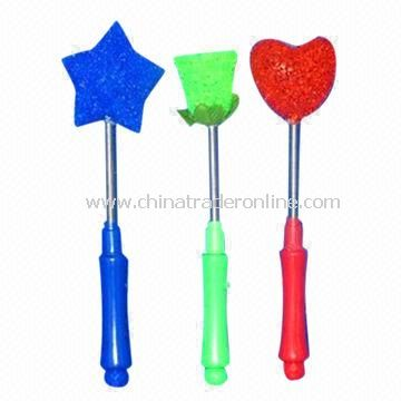 Plum/Star/Rose/Heart Flashing Shake Sticks, Four Styles Mixed, Suitable for Parties, Hot Selling