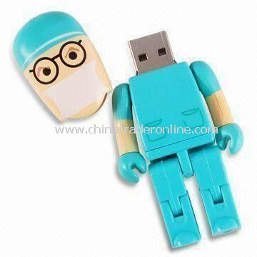 Toy Figurine Promotional USB Flash Drive, OEM Orders are Welcome, with CE and FCC Marks