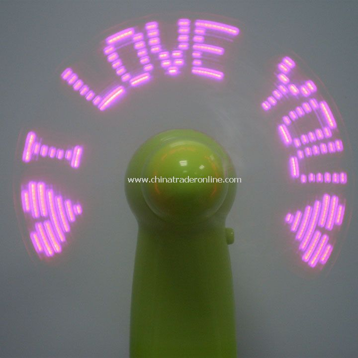 2013 New Arrival Flash Word in English/LED Fan