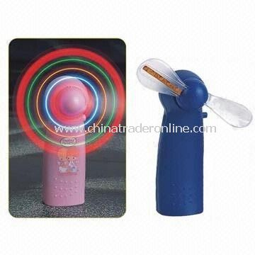 Flash Mini/LED/Flashing/Light Up/Toy/Electronic/Portable Fan, Made of ABS, for Gift Purposes