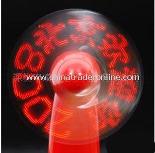 Red Flash Light Portable Fan