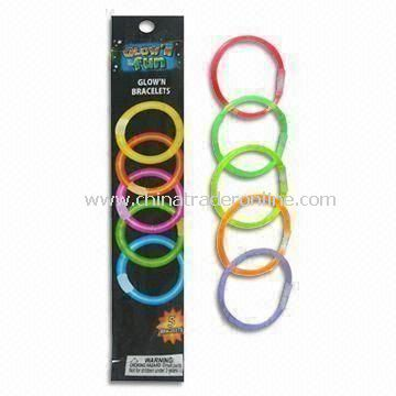 5 Pieces Glow Bracelets, Available in Blue, Pink, Yellow, Orange and Green