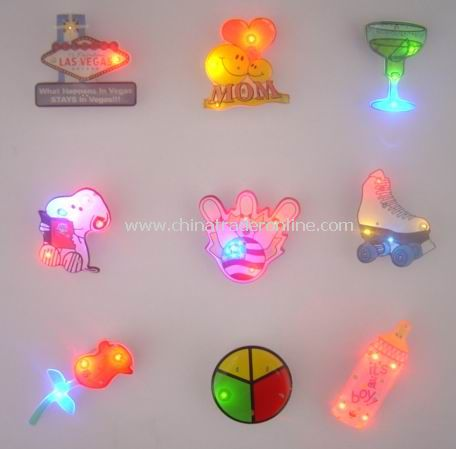 Flashing Magnetic Badges