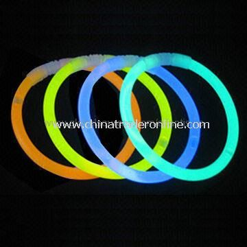 Flashing Novelty Light/Glow Novelties, Made of PE, Glow-in-the-dark, LED Flashing Bracelet