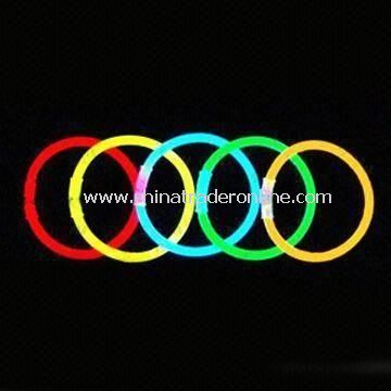 Glow Bracelets, Made of PE, Measures 5 x 200 and 6 x 200mm