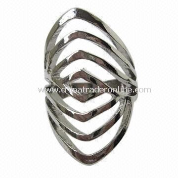 Smart Mens Ring , Made of Filligree Rhodium Alloy Ring