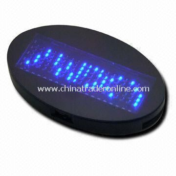Credit Card Size LED Name Badge with Programmable Glowing and Scrolling Message from China