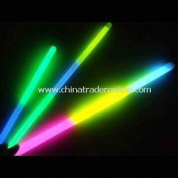 Flashing Glow Sticks, Made of PE, Various Colors and Sizes are Accepted, OEM Order is Welcome