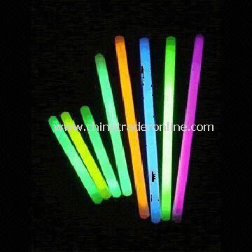 Flashing Glow Sticks, Made of PE, Various Colors and Sizes are Accepted