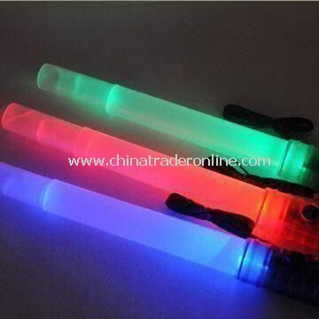 Glow Sticks, Available in Various Colors, Includes Flasher, Lasher and Whistle, Made of PE and PVC