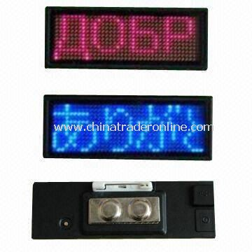 LED Badge Quotation with 12 x 38 Pixels and 1.85mm Pitch, Measures 77 x 30mm