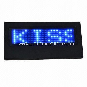 LED Name Badge, Can Display Varied Language and Symbol, Customized Colors Welcomed