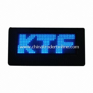 LED Name Badge, Can Display Varied Language and Symbol, Easily Edit and Operating