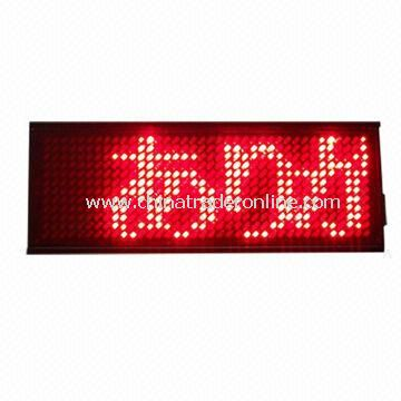 LED Name Badge, Rechargeable Programmable Scrolling LED Name Tag Message Sign Board