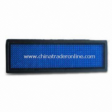 LED Name Badge with Resolution of 12 x 36 Pixels, Available in Yellow Color