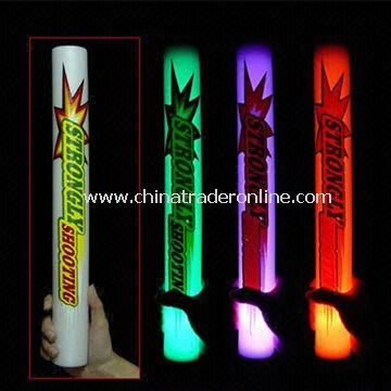 Light-up LED Flashing Foam/Glow Sticks, Made of EPE Material, 45mm Diameter, 40cm Length from China