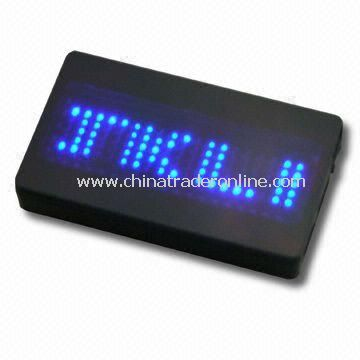 Mini Scrolling LED Name Badge with Programmable Function, Available in Five Brightness Options