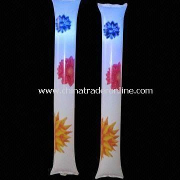 Flashing Cheering Sticks, Made of PE, Customized Logos are Accepted, Measures 10 x 60cm