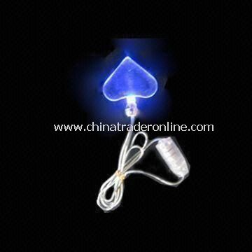 Flashing Necklace with One Piece LED Light and CE or RoHS Marks