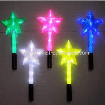Hot LED Light Concert Flashing Sticks, Working with 3 Pieces AAA Batteries