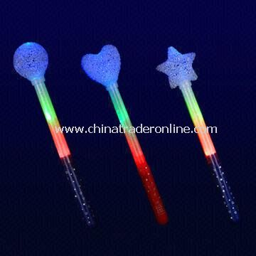 LED Flashing Stick with EVA Heart/Round/Star Shape, Ideal for Concerts and Christmas Light Gifts