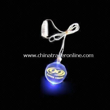 Novelty Light with One Piece LED Flashing Necklace, Perfect for Promotional Gifts