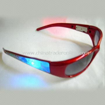 Plastic flashing sunglasses/party glasses