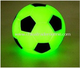 Funny Football Green Flashing Light, Wrist Alarm with Flashing LED Light, Easy to Operate, Available in Yellow
