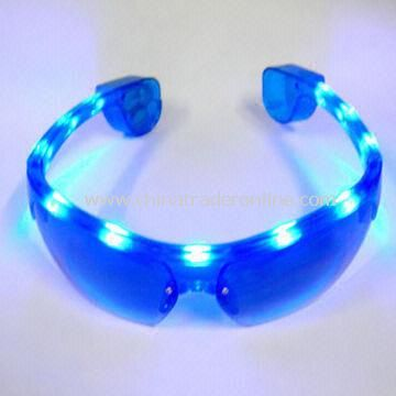 LED Flashing Sunglasses with Various Colors Available