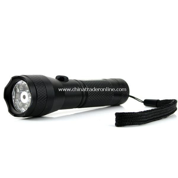 2 in1 7 LED Flashlight Torch +red Laser Pointer Light with Strap from China