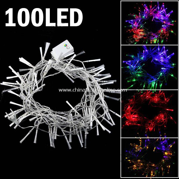 8-mode 100-LED String Lamp Light 10m for Christmas Halloween Multi-color from China