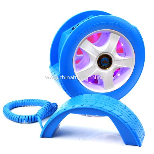 Creative Wheel Shaped Wired Table Telephone with Light from China