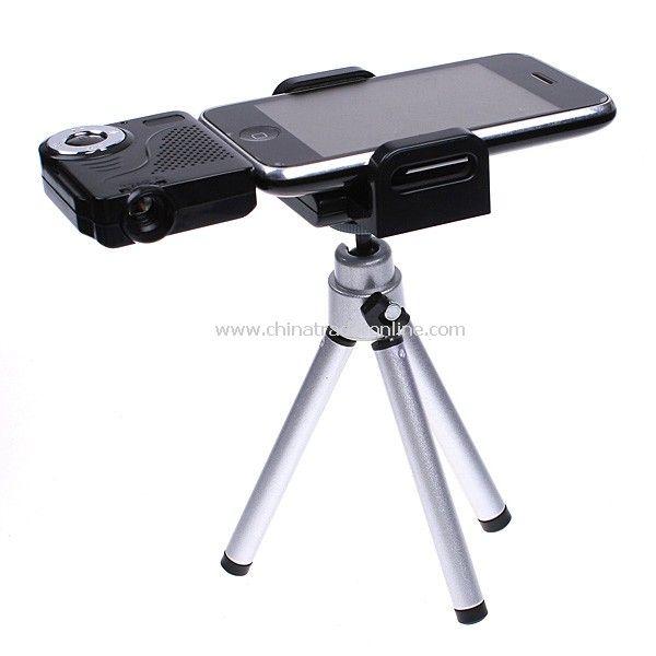 Mini Portable Multimedia Pocket Cinema Pico Projector for iPod iPhone + Tripod