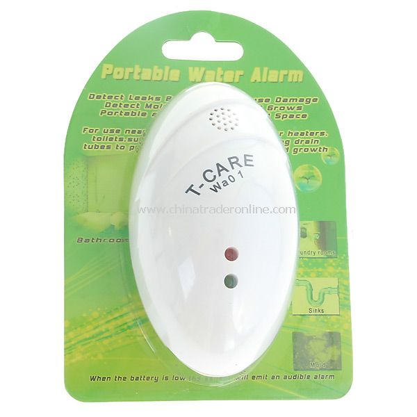 Professional Water Alarm for Sump Pump Floods Leaks Safety (White)