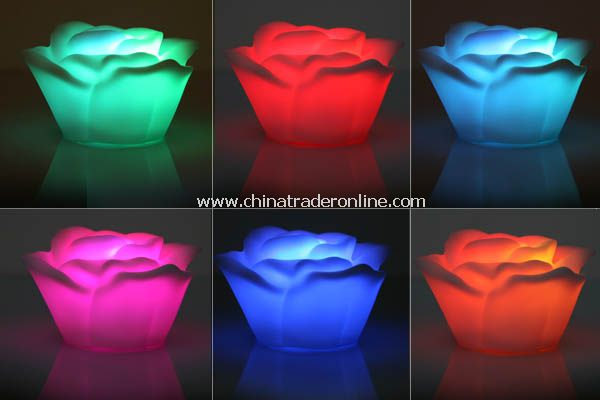 Romantic Living Color Changing LED Rose Lamp Tea Light