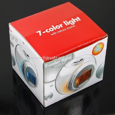 7 Color Changing Light Alarm Clock with Nature Sound