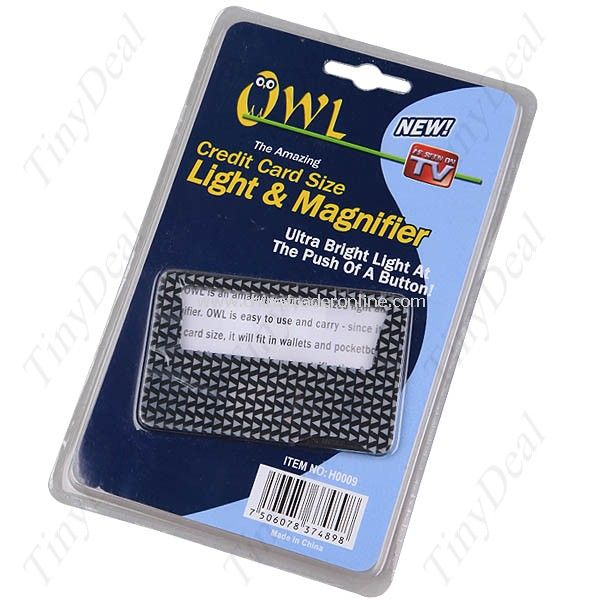 New Wallet Credit Card Size LED Light Optical Magnifier