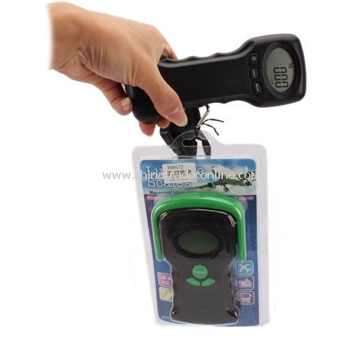 Digital 44kg LCD 2 in 1 Thermometer Travel Suitcase Scale New from China