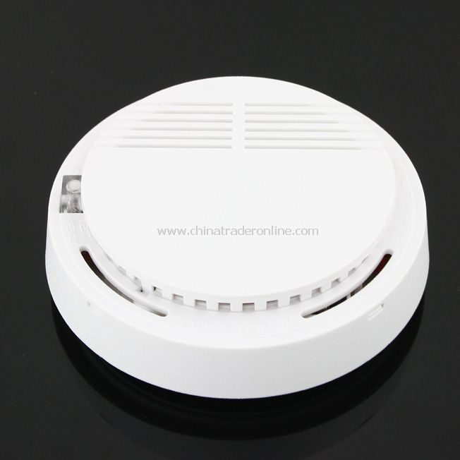Home security system Cordless / Wireless Smoke Detector Fire Alarm with battery