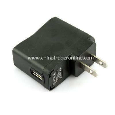 US Plug USB AC DC Power Supply Wall Charger Adapter MP3 MP4 DV Charger Black