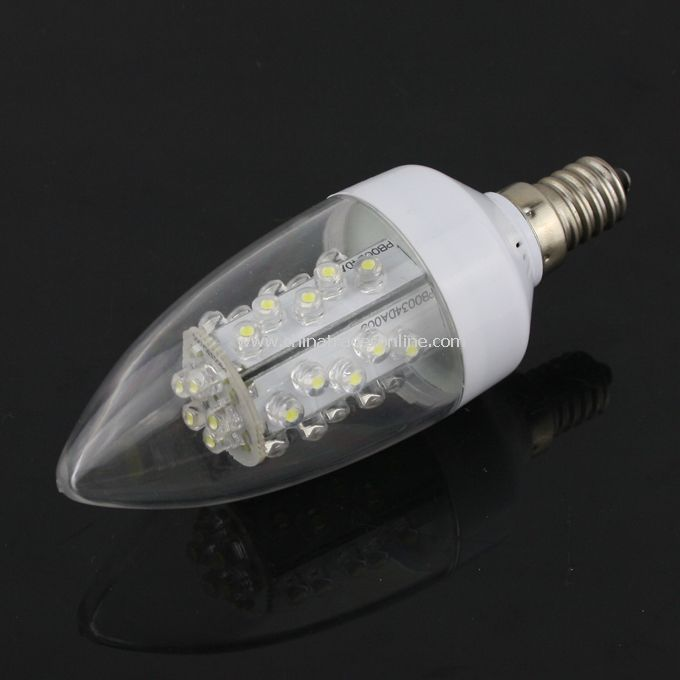 1.5W E14 Bright 30-LED Energy Saving LED Light Bulb Lamp Pure White