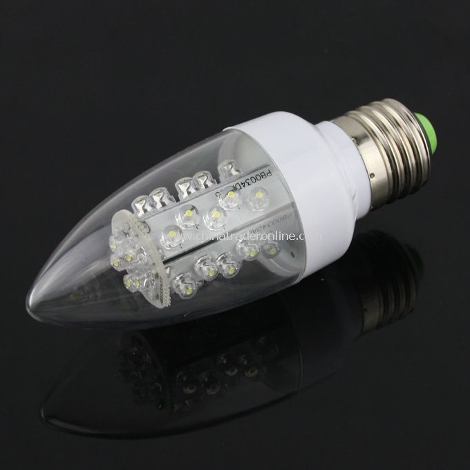 1.5W E27 Bright 30-LED Energy Saving LED Light Bulb Lamp Pure White