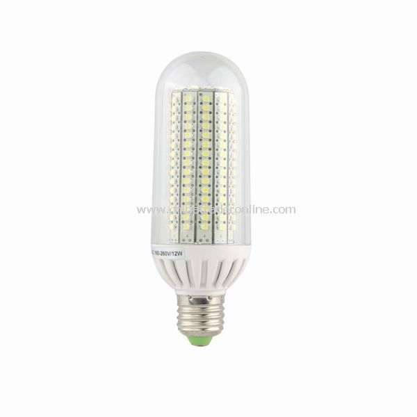 12W E27 198 SMD LED Bulb Light lamp 160-260V Pure White