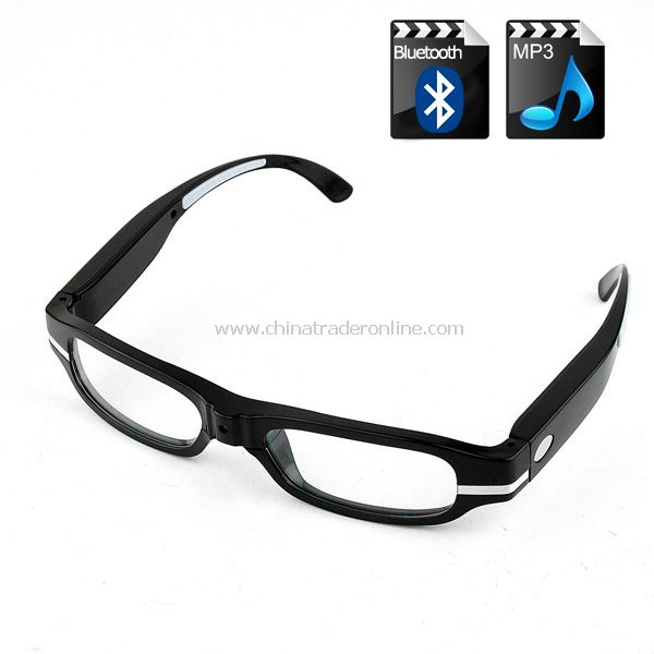 Bluetooth Sun Glasses 2GB Mp3 Player Hi-Fi Stereo Headset Sunglasses Black