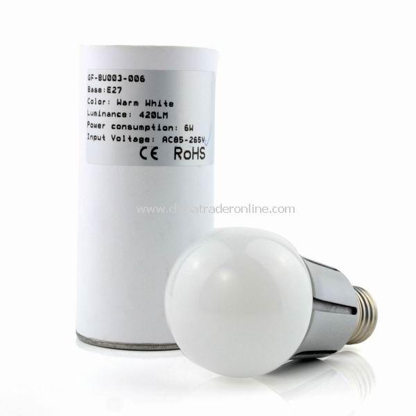 E27 6W SCREW BASE COOL WHITE LED Light LAMP BULB NEW