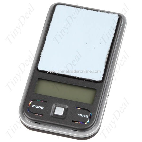 Music Player Shaped Pocket Digital Weighing Balance Scale 100g x 0.01g with Protective Cover& Pouch